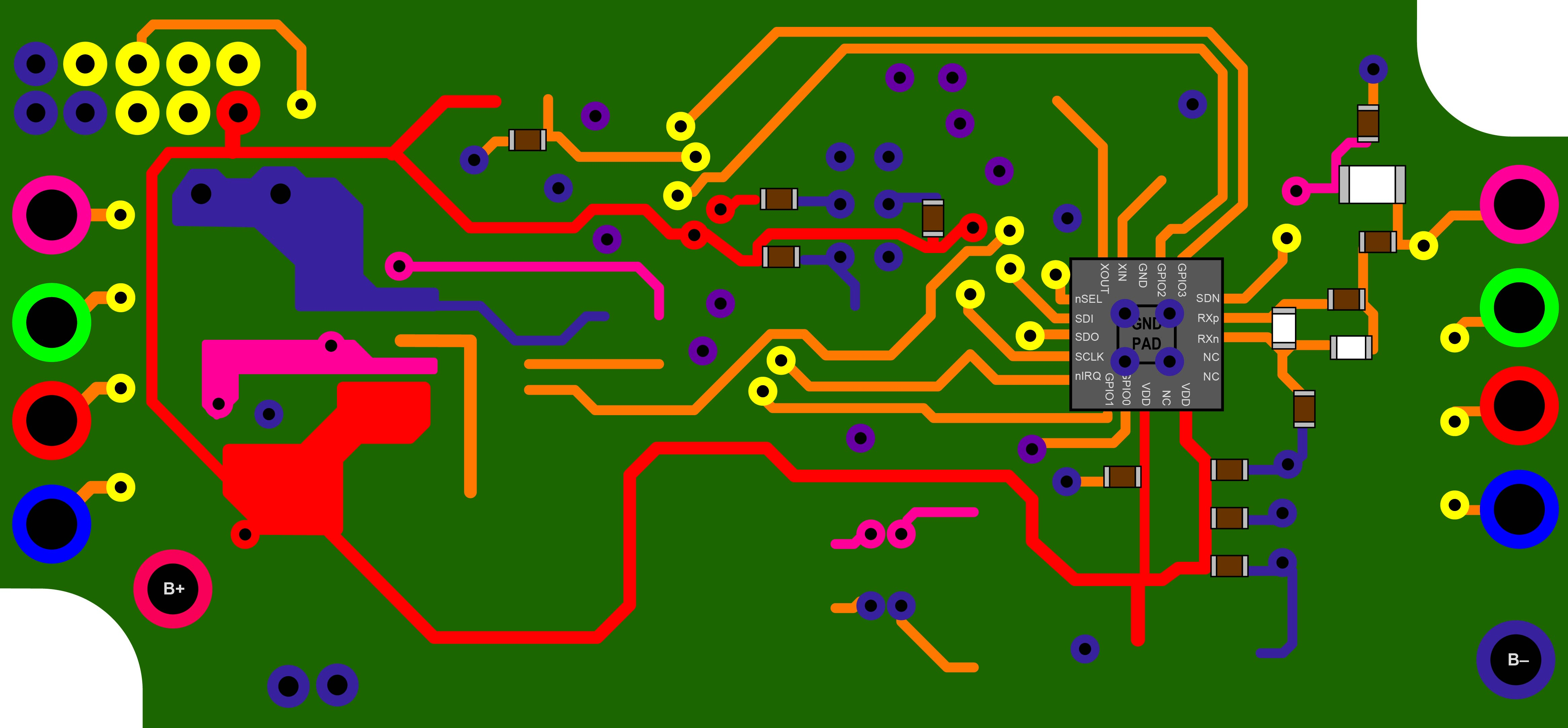 Xyloband PCB Front Tracks